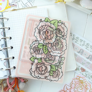 Roses/ floral clear Sticker Pocket-LIMITED QUANTITIES ONLY