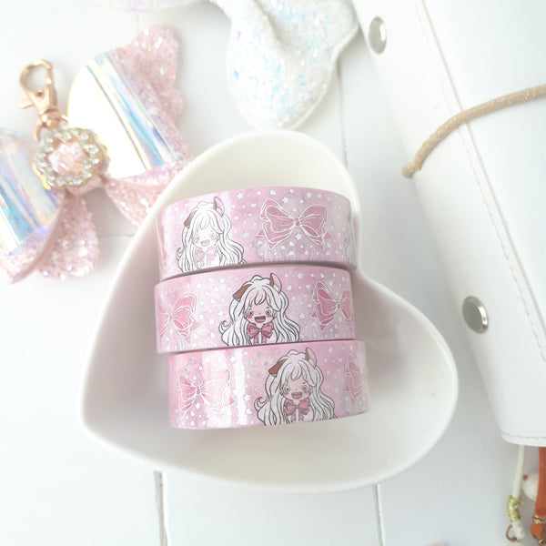 Ribbon foxigirl holo foiled washi roll