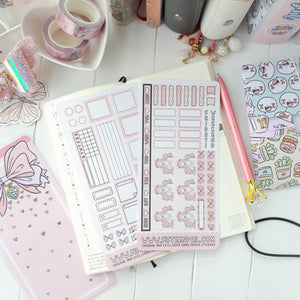 H001-Ribbon foxigirl hobonichi sticker mini kit