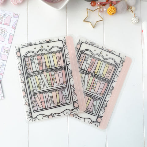 Book shelf clear Sticker Pocket- VERY LIMITED QUANTITIES