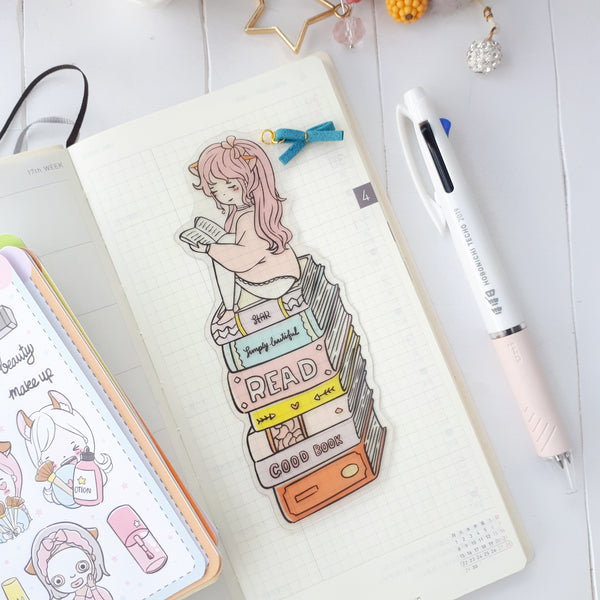 Book lover clear bookmark-LIMITED QUANTITES ONLY