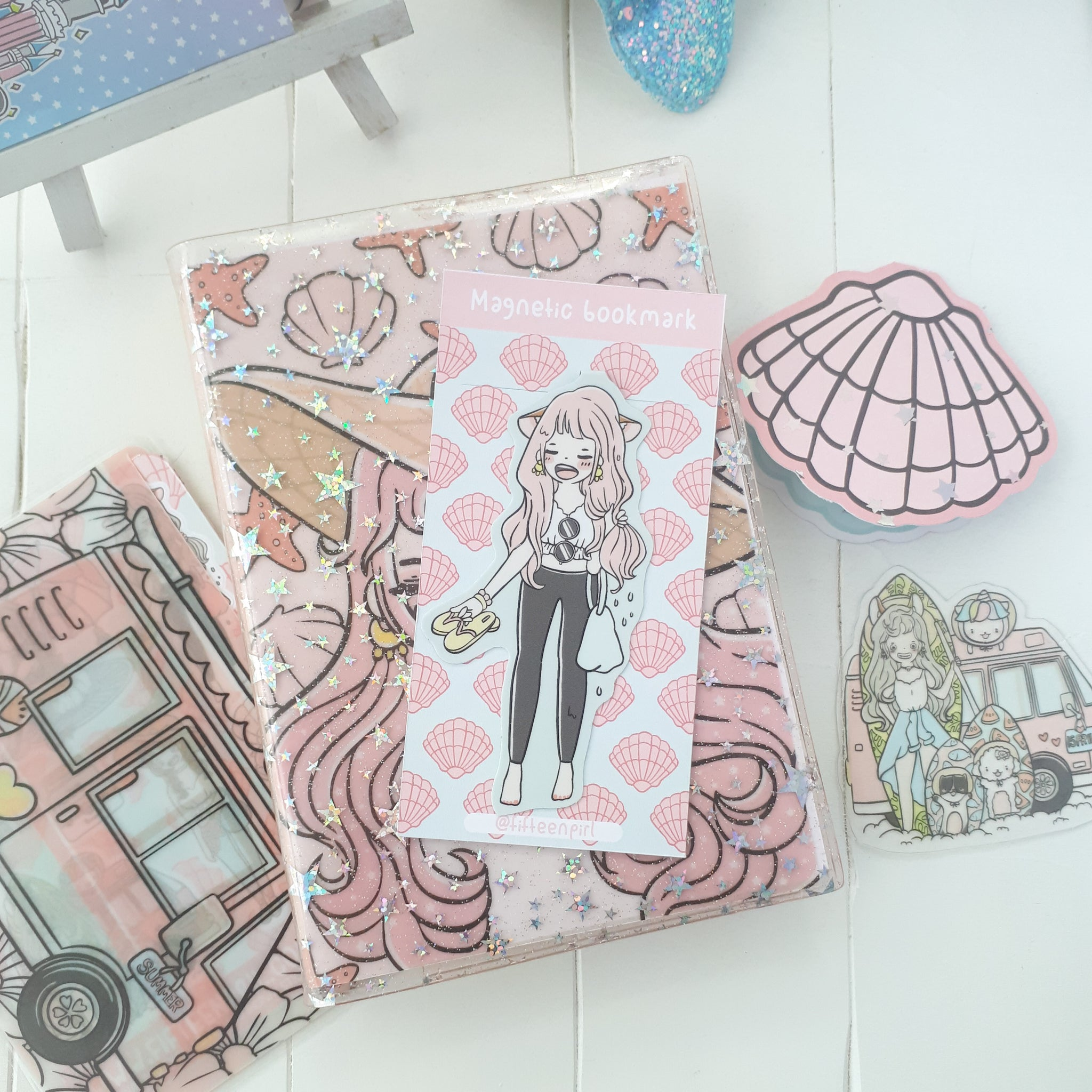 Summer vacation foxigirl magnetic bookmark-LIMITED QUANTITES ONLY