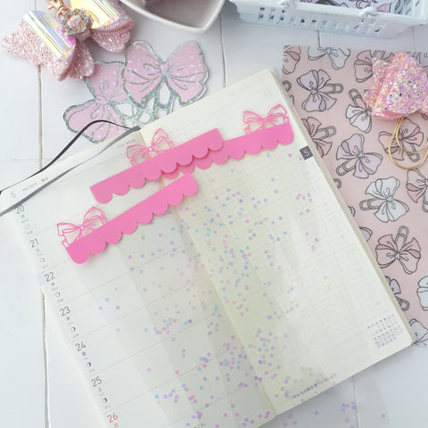 Pink ribbon tab dividers-LIMITED QUANTITIES ONLY