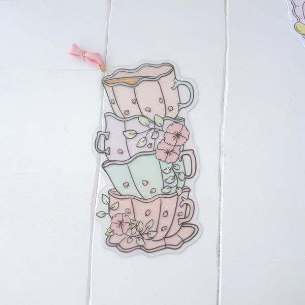 Tea time foxigirl clear bookmark-LIMITED QUANTITES ONLY