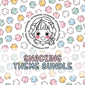 Snacking themed foxigirl themed Bundle-about 25% less! LIMITED Bundles only
