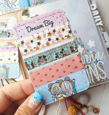 Theme park themed washi tape wrapping card-LIMITED QUANTITIES ONLY