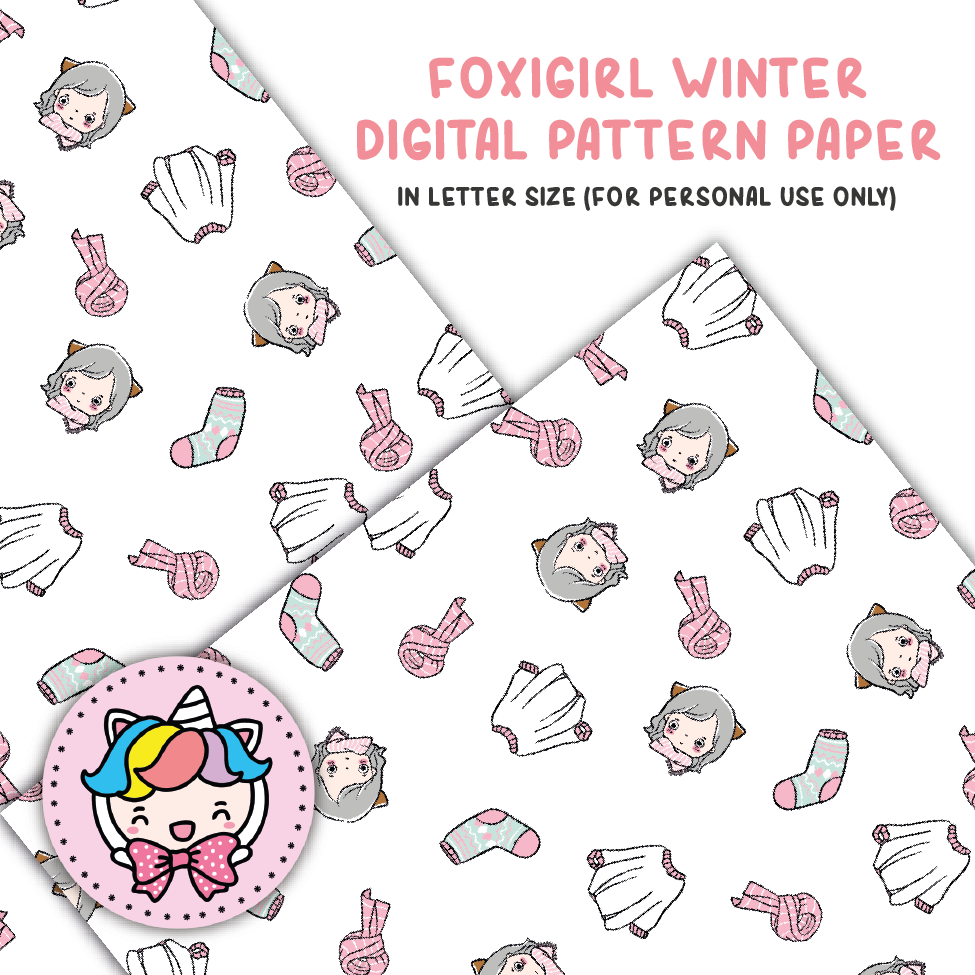 Foxigirl winter digital paper (digital files only)