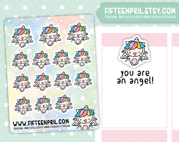 U018-Angel Unikin stickers