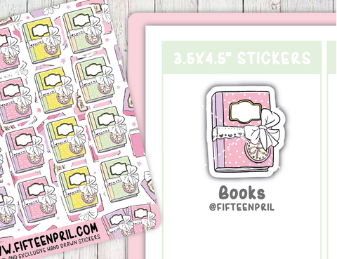 F088-Books sticker