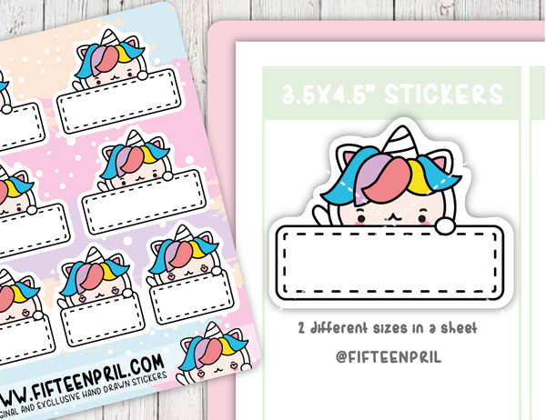 U022-Box Unikin stickers