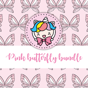 Pink buttefly themed Bundle-about 20% less! LIMITED Bundles only