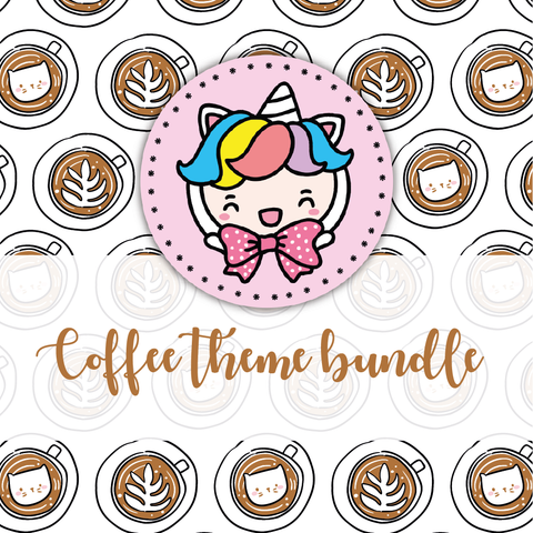 Coffee time foxigirl themed Bundle-about 20% less! LIMITED Bundles only