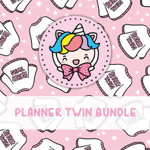 PLANNER TWIN themed Bundle-about 20% less! LIMITED Bundles only