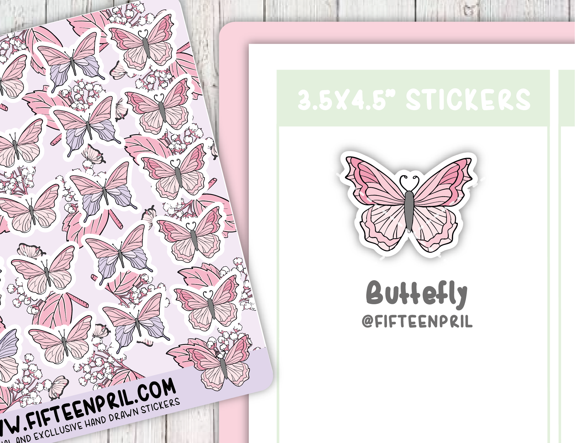 F086-Butterflies sticker