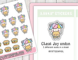 Cheat day Unikin sticker