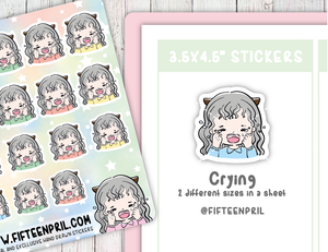 F011-Crying Foxigirl sticker