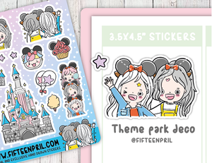 Theme park decoration sticker sheet