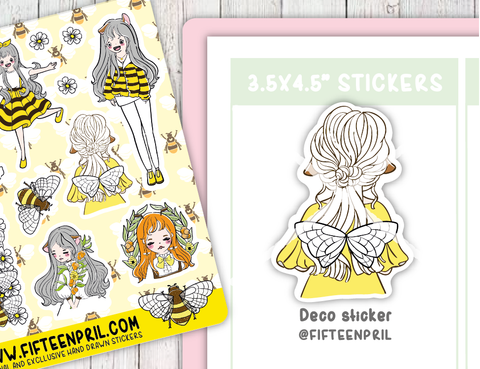 F085-Bee decoration sticker