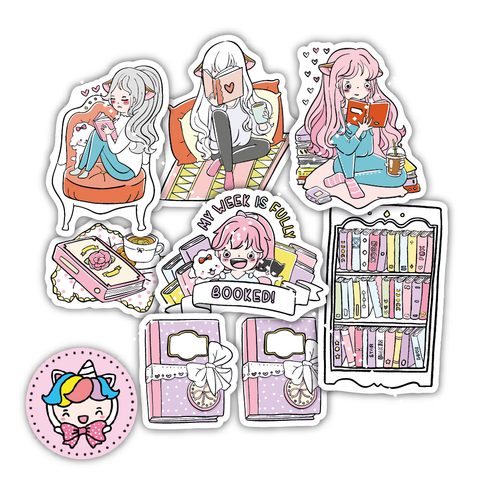 DC0027-Book lover diecut kit