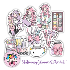 Copy of DC0025-Pink buttefly foxigirl diecut kit