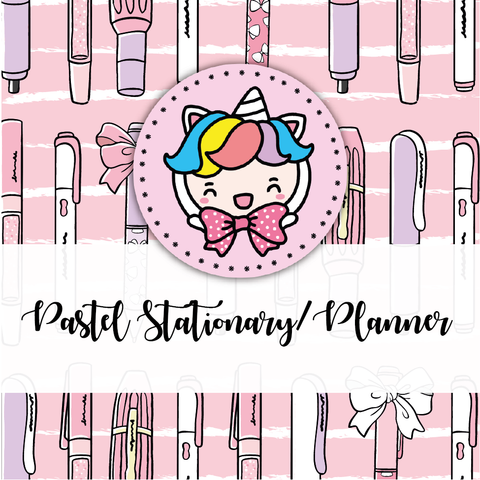 Pastel Stationery/Planner themed Bundle-about 20% less! LIMITED Bundles only