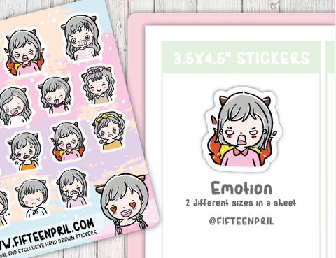 F0220- Emotion/expression Foxigirl sticker