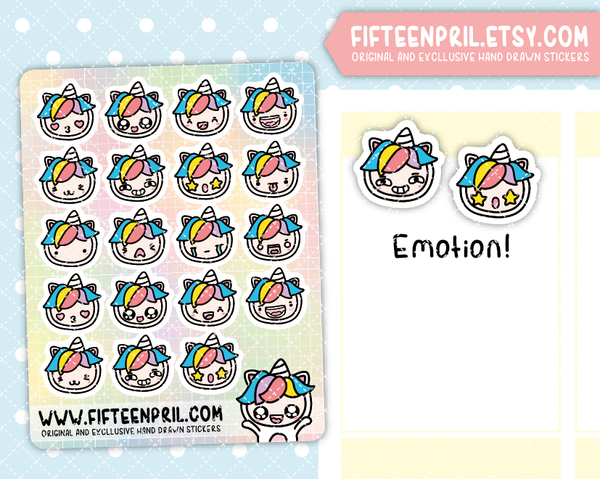 U010-Emotion Unikin stickers