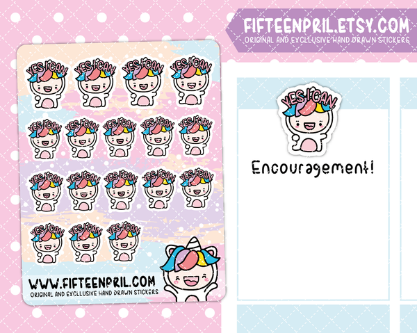 U007-Encouragement Unikin stickers