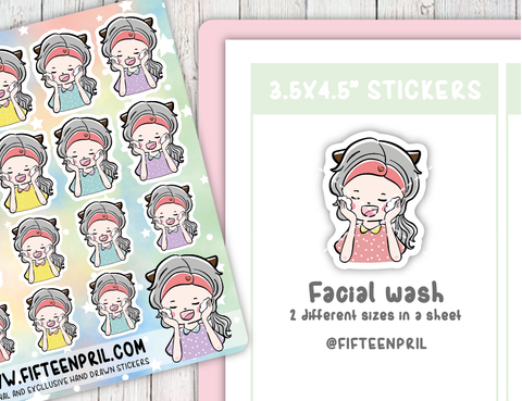 F017-Facial wash Foxigirl sticker