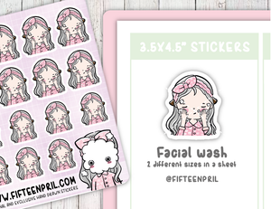 F017-Facial wash 2 Foxigirl sticker