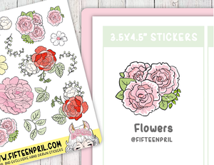 F066-Flowers deco stickers