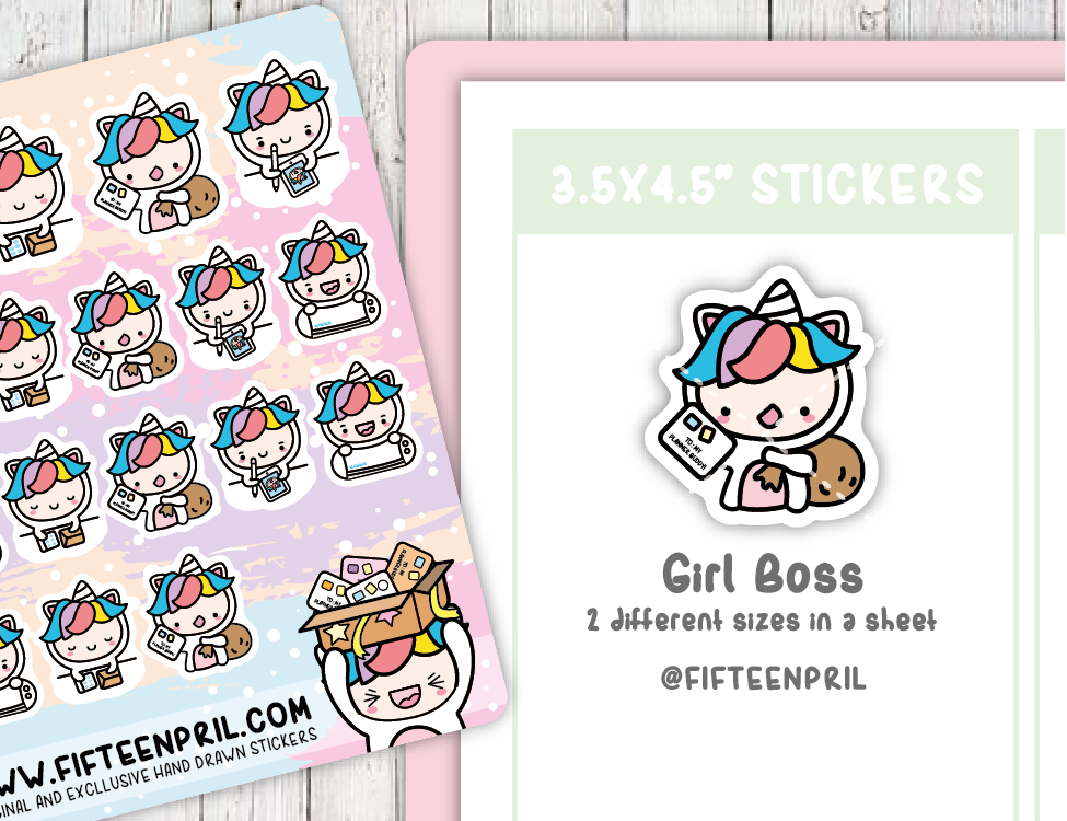 U005-Girl boss Unikin stickers