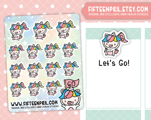 U019-Let's Go Unikin stickers