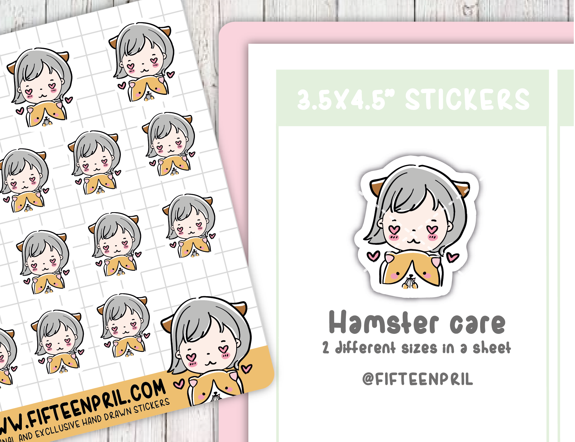 F079-Hamster care Foxigirl sticker