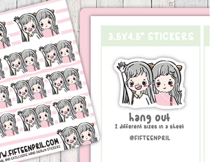 F056- BFF hang out day Foxigirl sticker