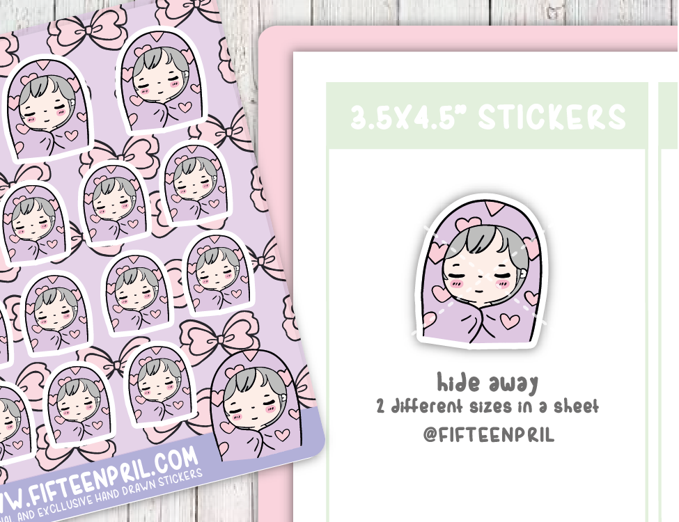 F094-Hide away Foxigirl sticker