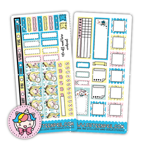 Alice inspired Hobonichi week sticker kit