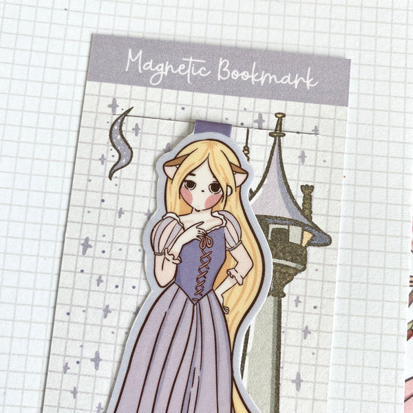 Long hair foxigirl magnetic bookmark-LIMITED QUANTITES