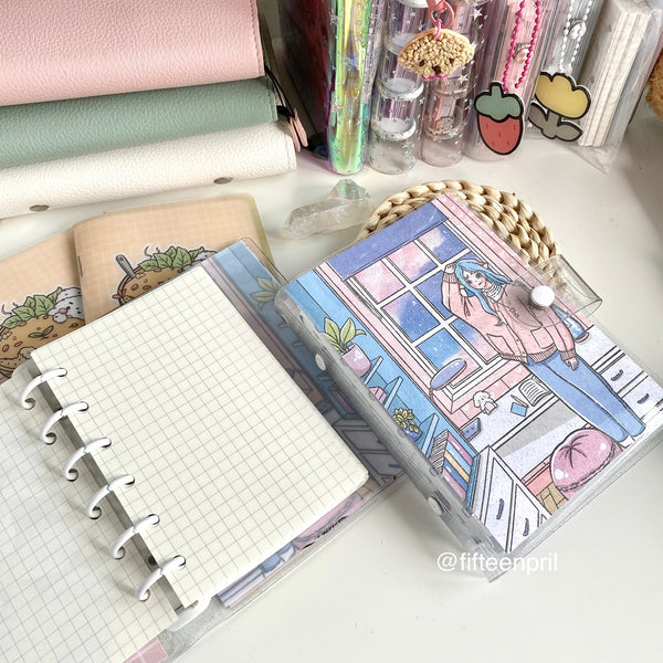 Pre-order: Starry Sky foxigirl glitter clear binder A7- USA and Msia only