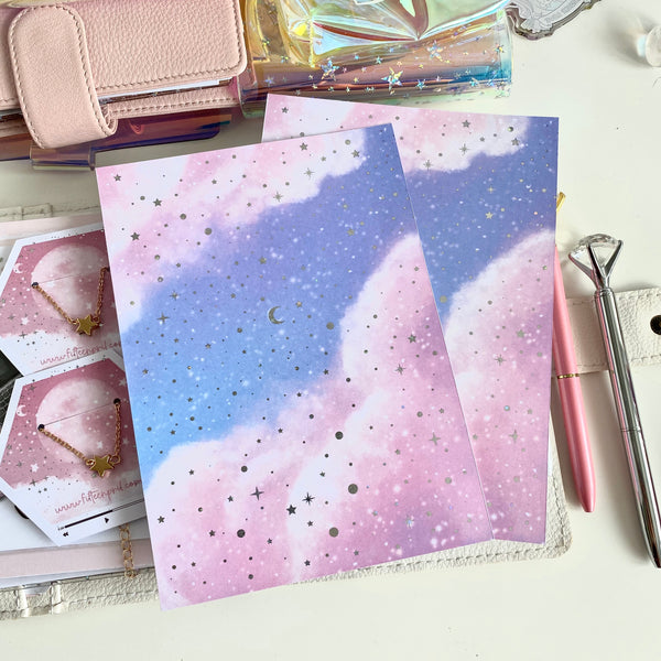 "Stary sky foiled dashboard- 5x7""/B6"