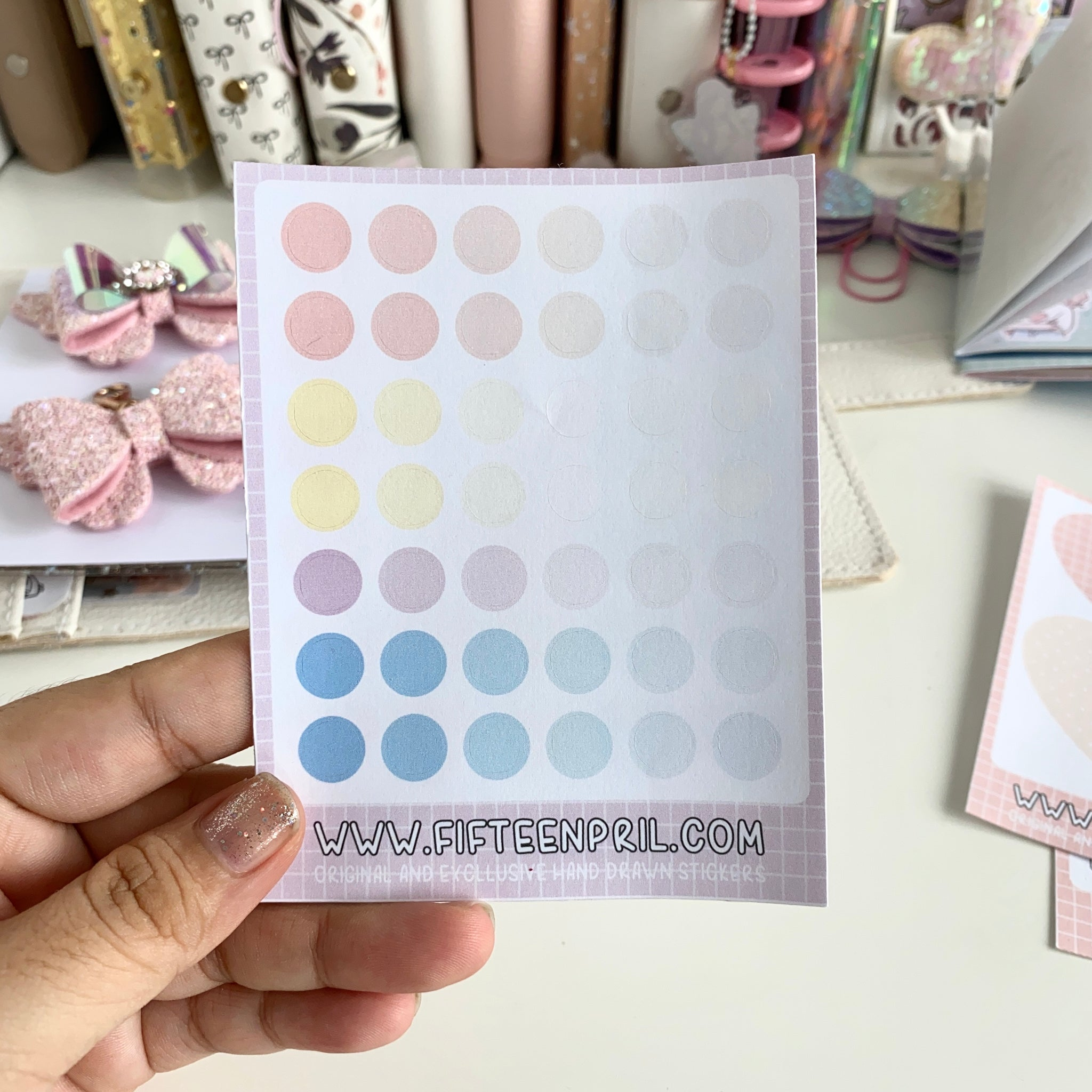 Bujo-Round dots stickers