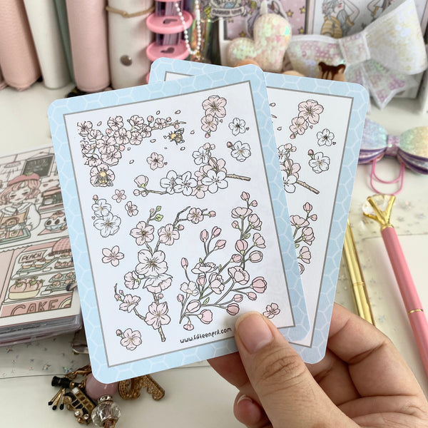 Cherry blossom sticker sheet-not in the bundle