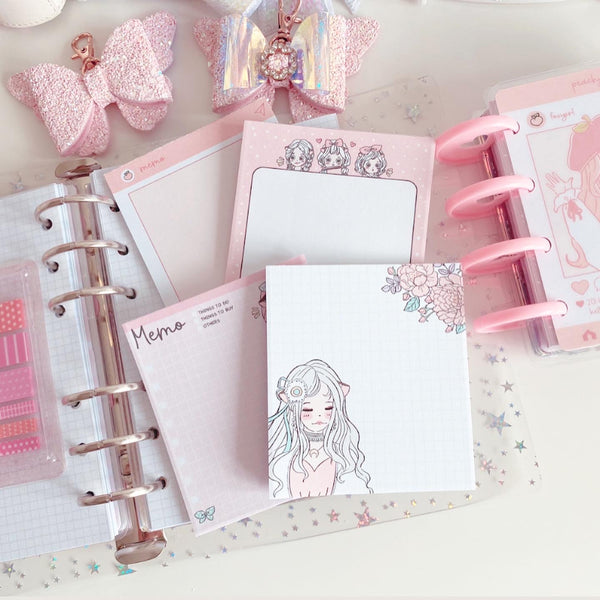 White Moon foxigirl Notepad