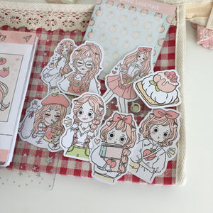 Peach foxigirl diecut set