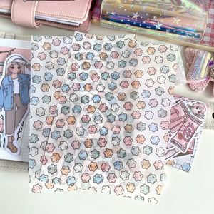 "Star Candy (konpeito) vellum dashboard-5x7""(B6)"