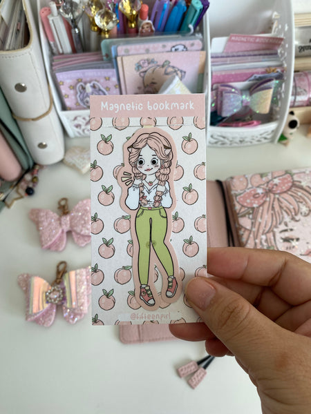 Peach foxigirl magnetic bookmark-LIMITED QUANTITES ONLY