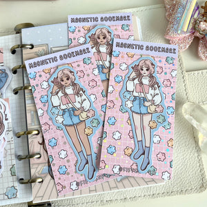 Snacking ice cream foxigirl magnetic bookmark-LIMITED QUANTITES ONLY