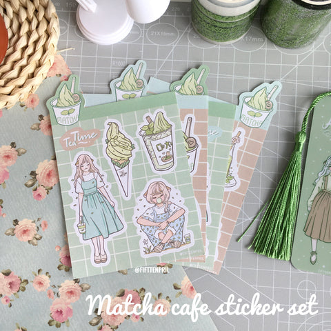 Matcha cafe foxigirl sticker set