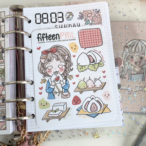 Mochi foxigirl Large sticker