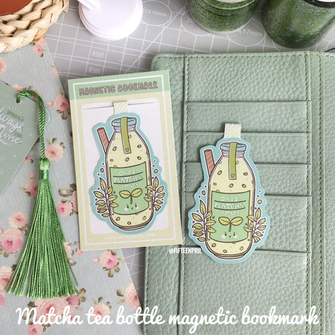 Matcha tea bottle magnetic bookmark-LIMITED QUANTITES ONLY